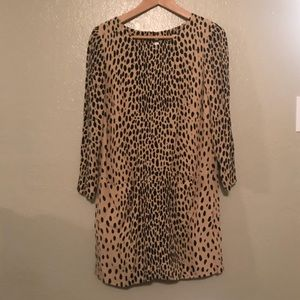 Jcrew leopard dress